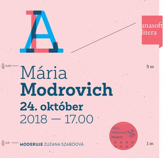 Anasoft litera 2018: Mária Modrovich