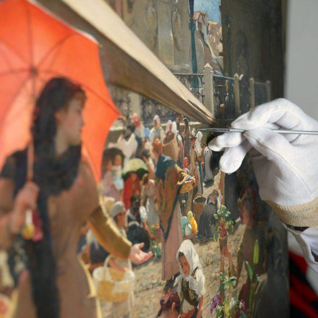 Odhalenie zreštaurovaného obrazu Dominika Skuteckého: Trh v Banskej Bystrici